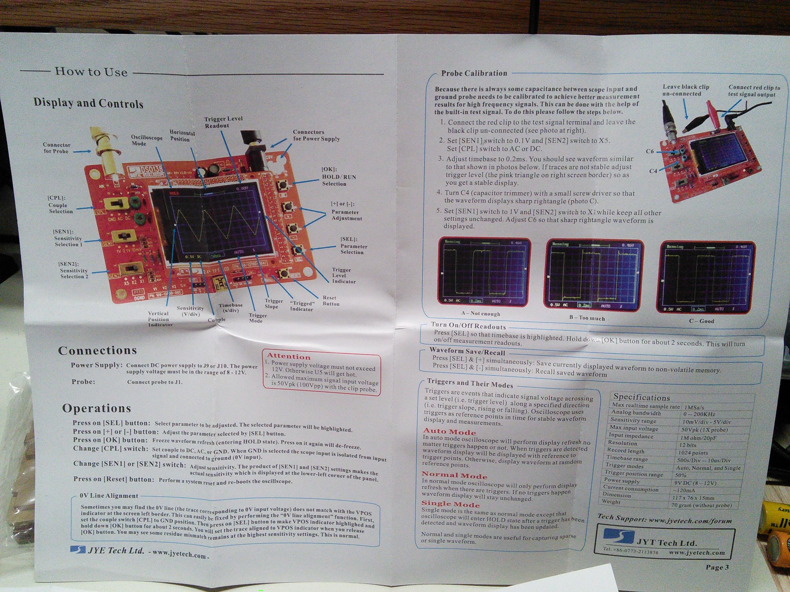 Inexpensive DIY Digital Oscilloscope Kit - Nashua Area Radio