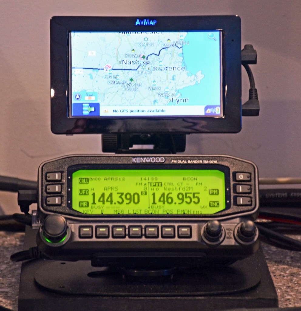 Base 2 m/70 cm Radio with APRS Display