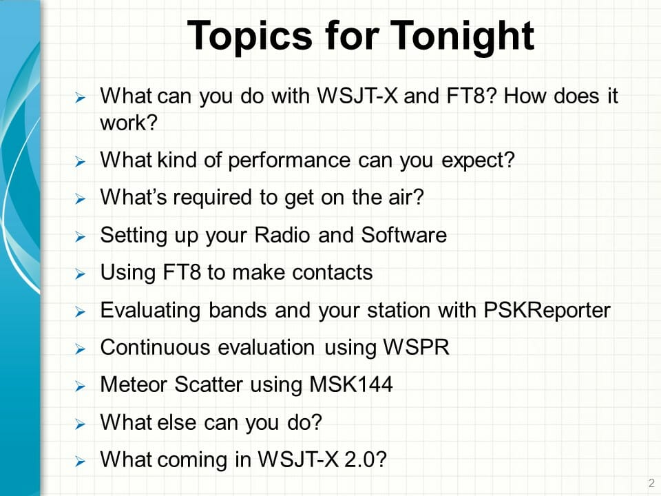 WSJT-X and FT8 - A Video Introduction - Nashua Area Radio